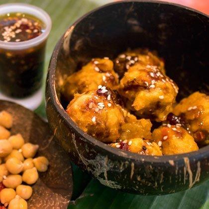 Chickpea Balls in hot sauce recipe