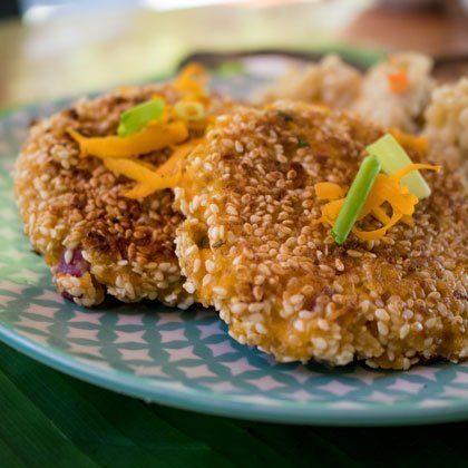 Pumpkin patties recipe with cilantro