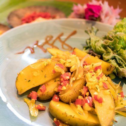 Turmeric potatoes recipe